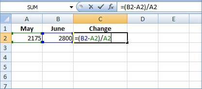 how to set up formulas in excel