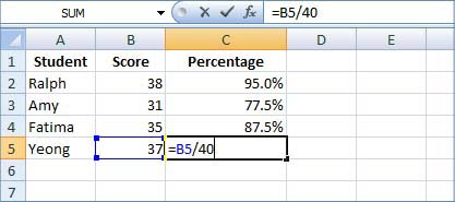 grade calculator excel