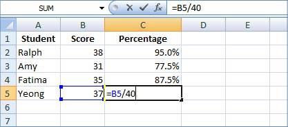 Excel formule percentage verhogen